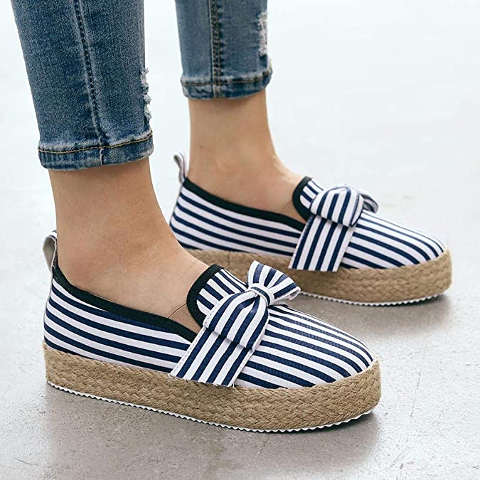 Chaussures Simples de Grande Taille Romaines Chaussures Plates /épaisses pour Femmes /étudiants Occasionnels Auifor Mocassins Femme