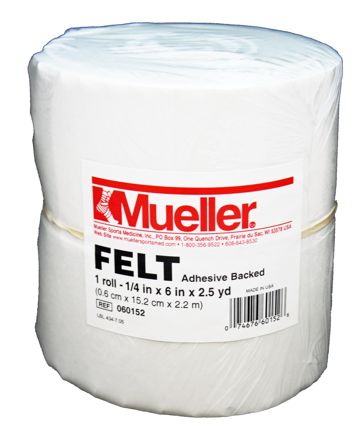 Mueller Orthopedic Felt - Adhesive backed - 1/4'' x 6'' x 2.5 yd roll by Mueller