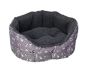 House of Paws HP993-SHouse of Paws - Cama Ovalada para Perros (Talla S), diseño de Perros: Amazon.es: Productos para mascotas