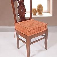 Homescapes hohes Sitzkissen mit Bindebändern Sitzerhöhung Aufstehhilfe, Bezug aus 100% Baumwolle, Füllung aus 100% Polyester
