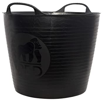 BLACK Genuine Flexible TubTrug Shallow 15L Flexi TubTrugs Horse Feeding Bucket