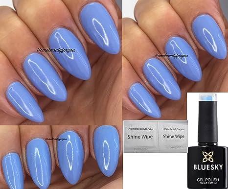 Bluesky KA1463, azul calma, gel para uñas, esmalte de uñas de secado luz