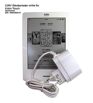 Fuente blanca para Kobo Touch. 230 V Cargador para Kobo eReader ...