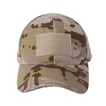 JERKKY Gorra Militar de Camuflaje del ejército Sombrero de béisbol Parche Sombrero Insignia Gancho Brassard Emblema Desert Camo: Amazon.es: Hogar
