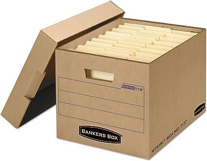 Bankers Box – Caja archivador de bloqueo de caja de almacenamiento ...