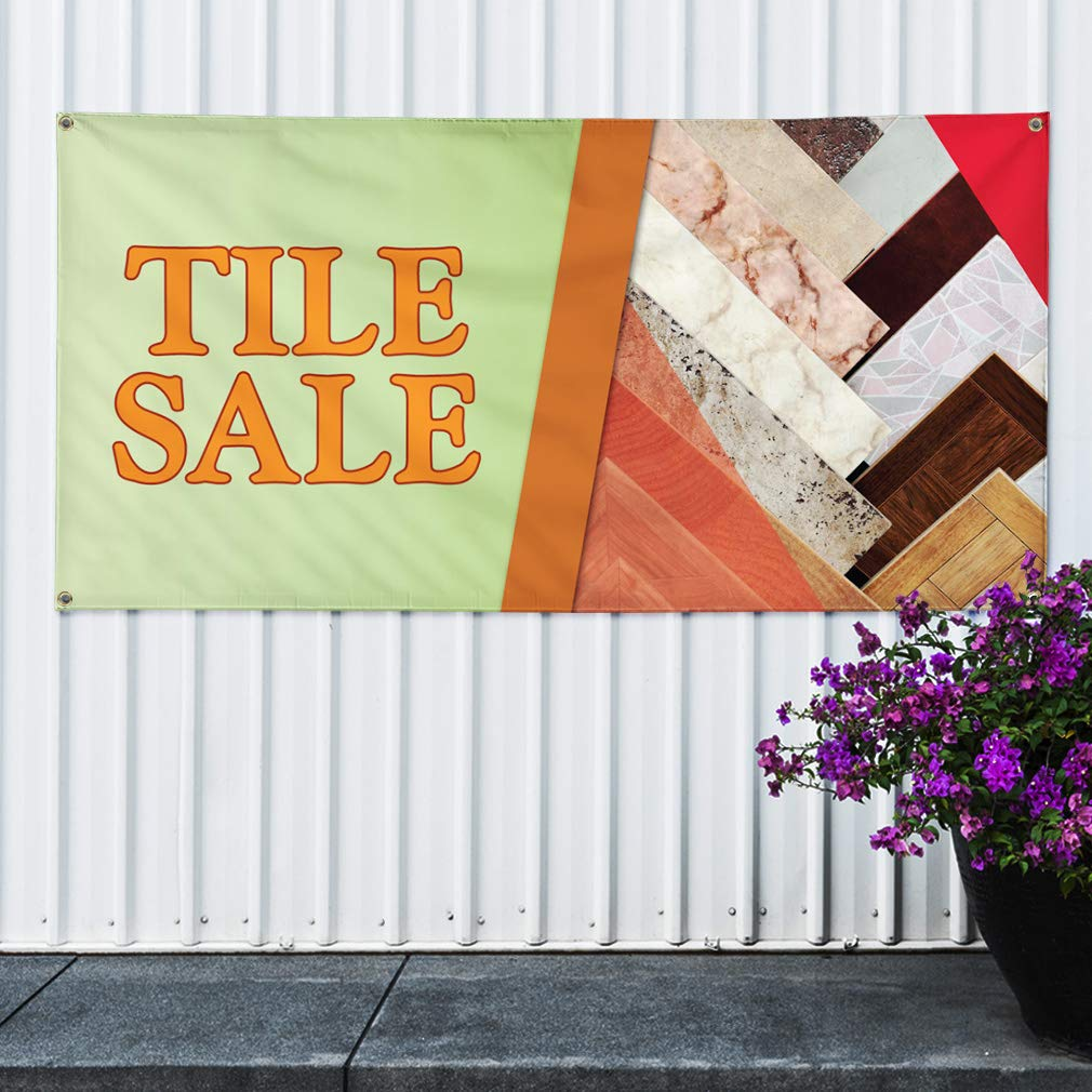 6 Grommets Set of 2 32inx80in Multiple Sizes Available Vinyl Banner Sign Tile Sale #1 Style A Business Tiles Marketing Advertising Green