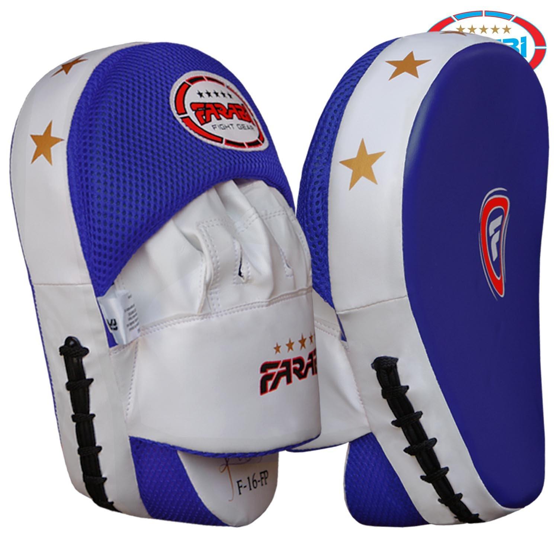 Farabi Curved Focus almohadillas, Gancho y Jab guantes, almohadillas de entrenamiento de boxeo (piel sintética, rígida (envío gratuito) Farabi Sports FP-03