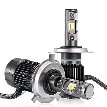 LED Bombillas para Coche Faros Delanteros - 1 par, AUTLEAD H4 Luces Altas/Bajas
