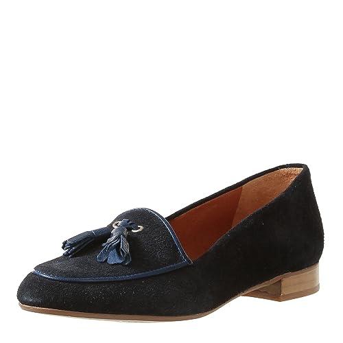 Pointer - Mocasines de Piel para mujer Azul azul oscuro, color Azul, talla 40.5: Amazon.es: Zapatos y complementos