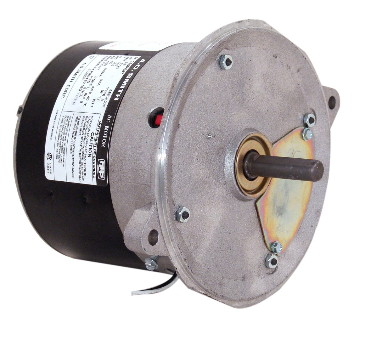 A.O. Smith XEL2014 1/6 HP, 1725 RPM, 115 Volts, 48N Frame, Totally Enclosed, Sleeve Bearing, Reversible Rotation Oil Burner Motor