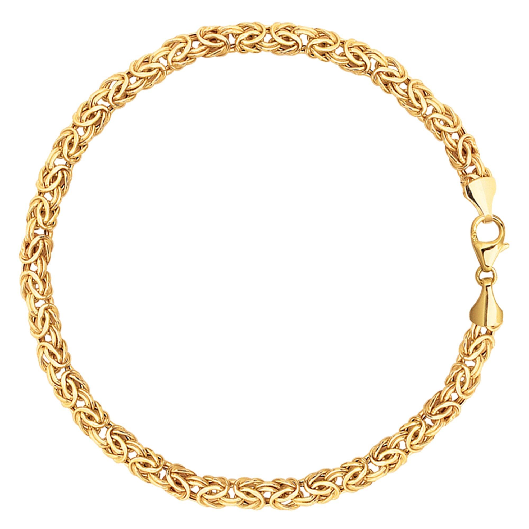 14K Yellow Gold Byzantine Style Link Bracelet, 7.25'' by JewelryAffairs