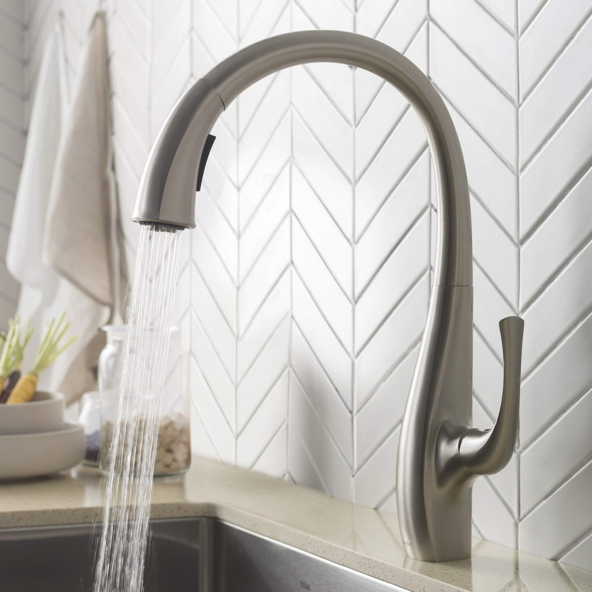 Kraus Kpf 1673sfs Nolen Kitchen Faucet Spot Free