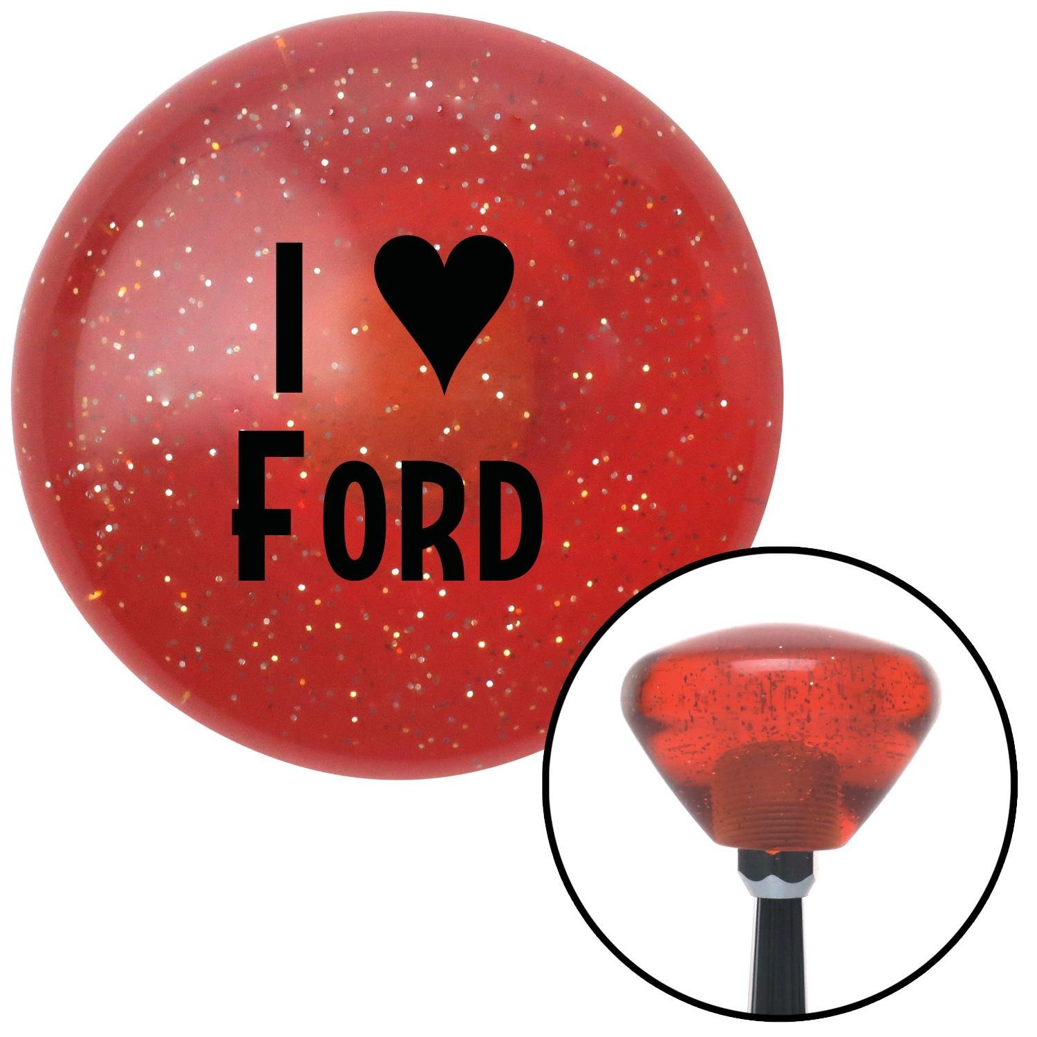 American Shifter 177809 Orange Retro Metal Flake Shift Knob with M16 x 1.5 Insert Black I 3 Ford