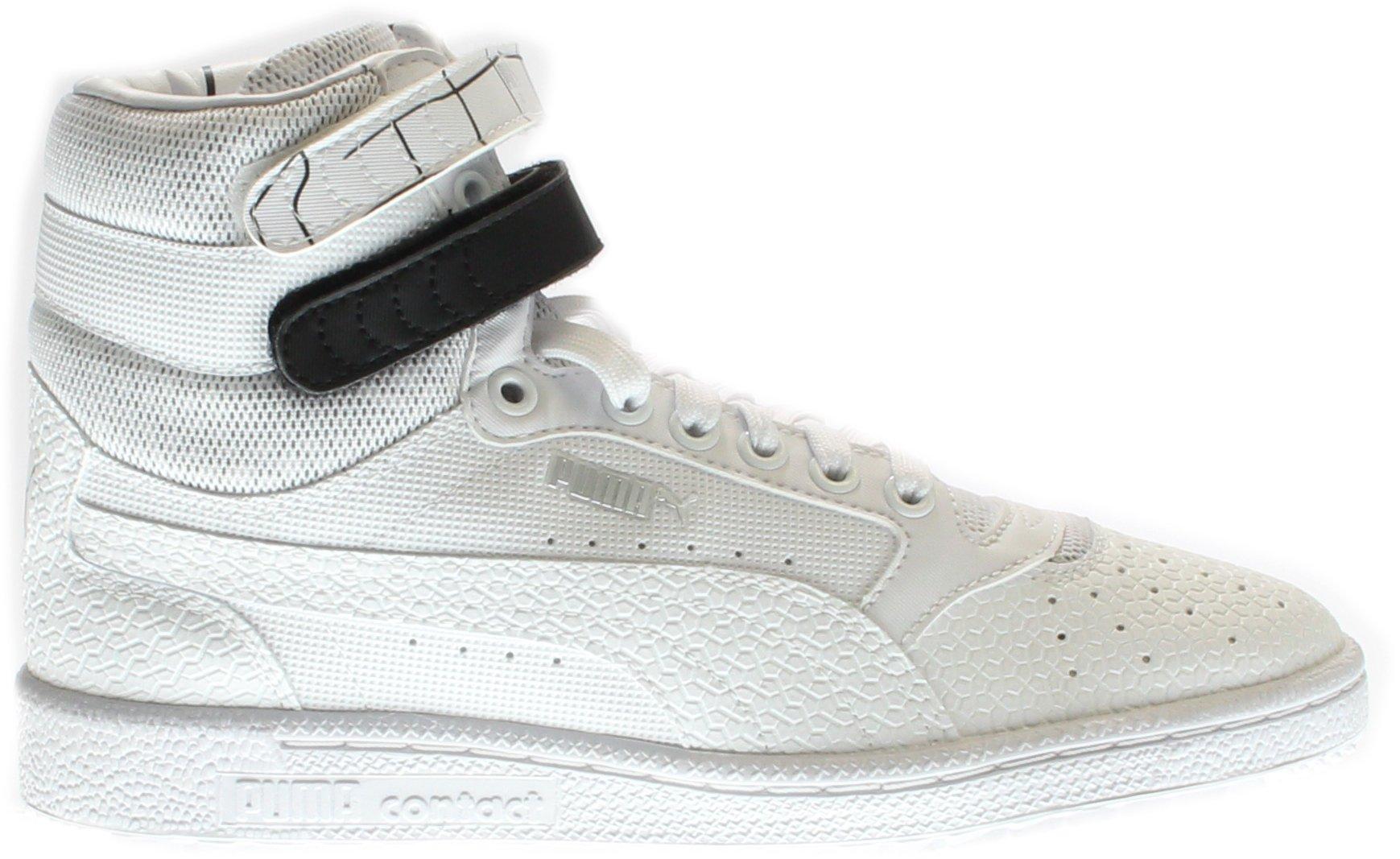 PUMA Women's Sky Ii Hi Sf Texture WN's Basketball Shoe, White Black, 8.5 M US by PUMA (Image #2)