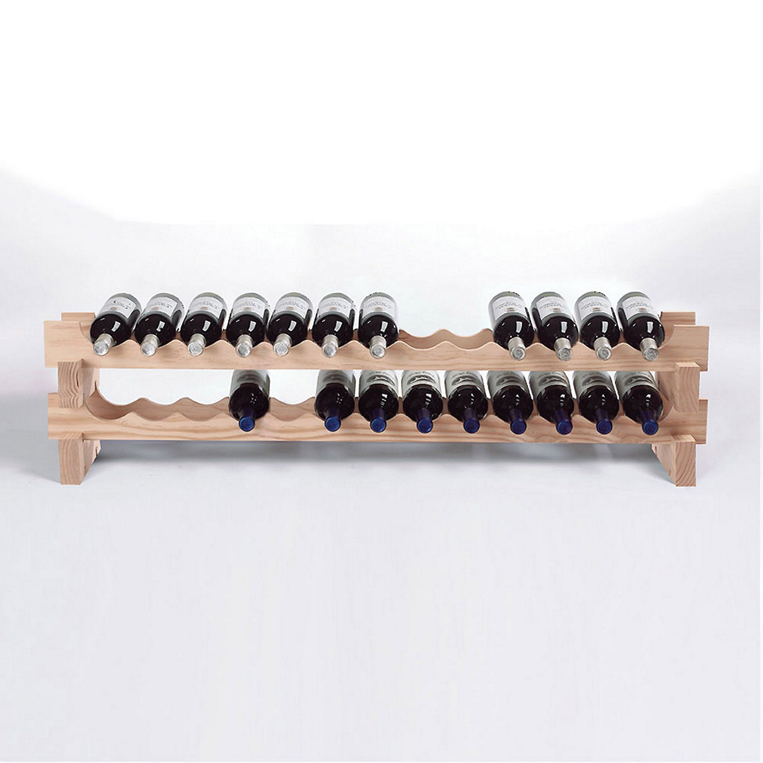 Wine Enthusiast 26 Bottle Stackable Wine Rack Kit