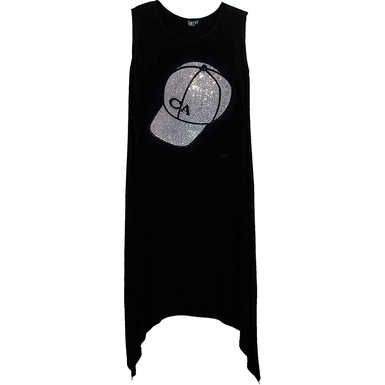 Bulltees /& Shiny CACap HotFix Rhinestones Womens Shirt Tee Dress Tank Top Leggings