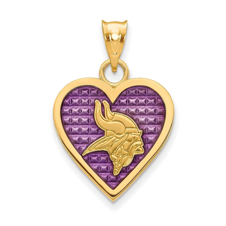 Kira Riley Gold Plated Minnesota Vikings Enameled Heart Pendant