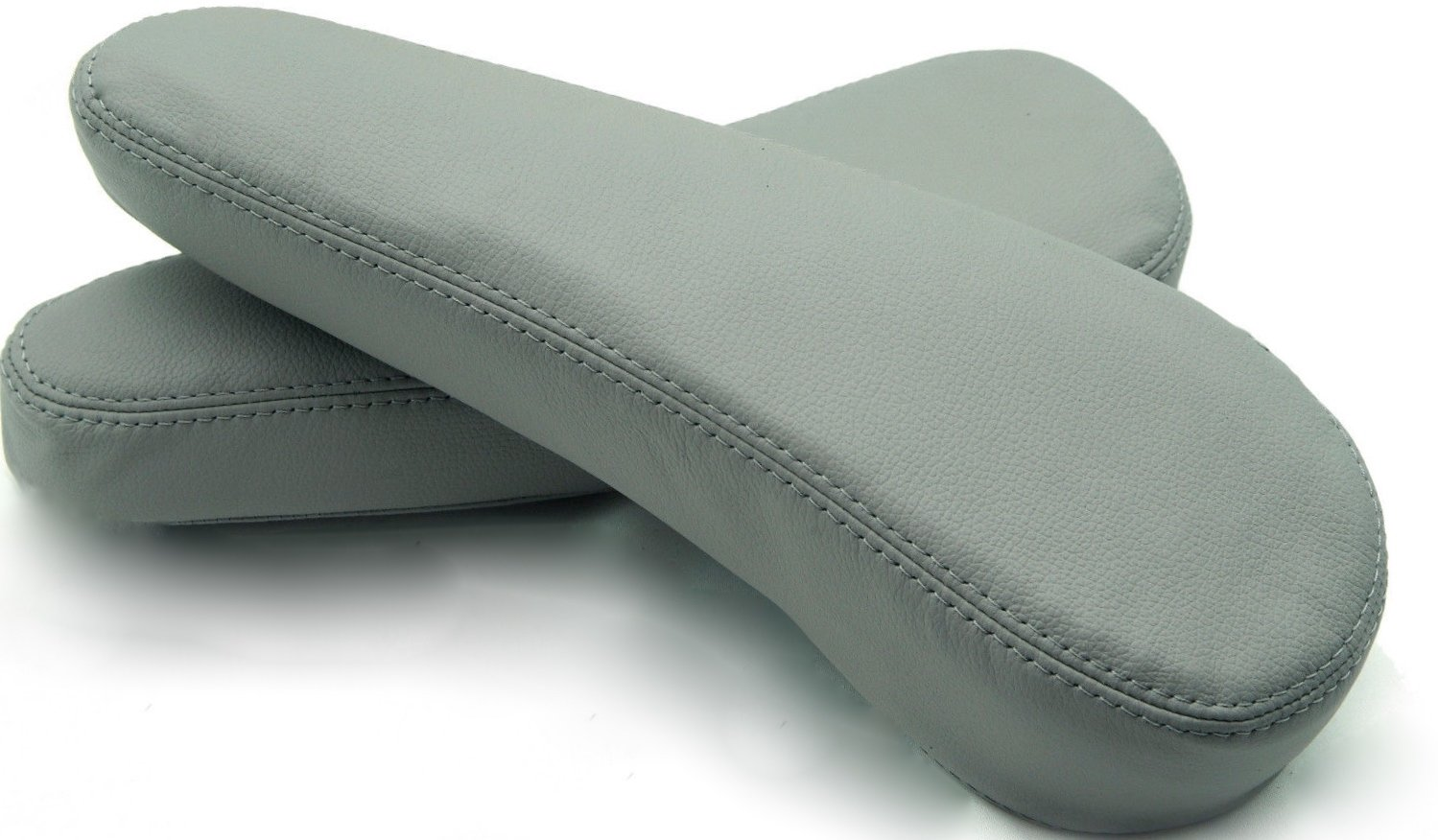 AAAUPHOLSTER Custom-made for Toyota Sienna 05-10 Seats 2X Armrests Real Leather Kit OEM Stone GRAY