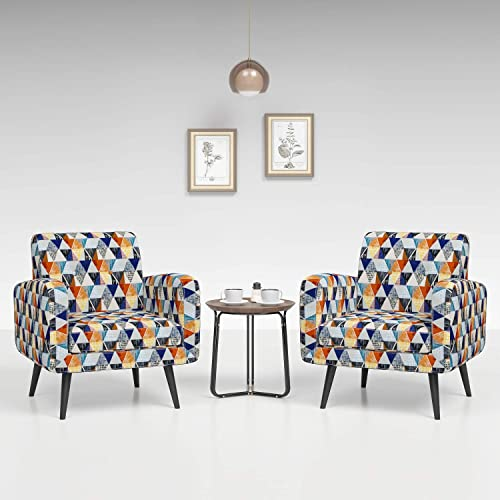 Deal of the week: JustRoomy Mid Century Accent Chair Set of 2 Modern Tufted Fabric Arm Chair