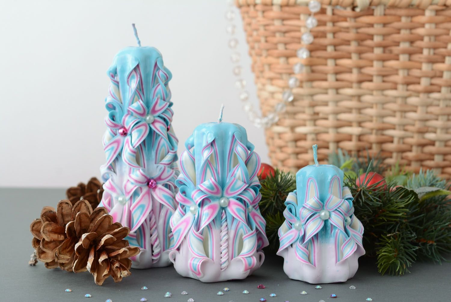 Set Of New Year Candles