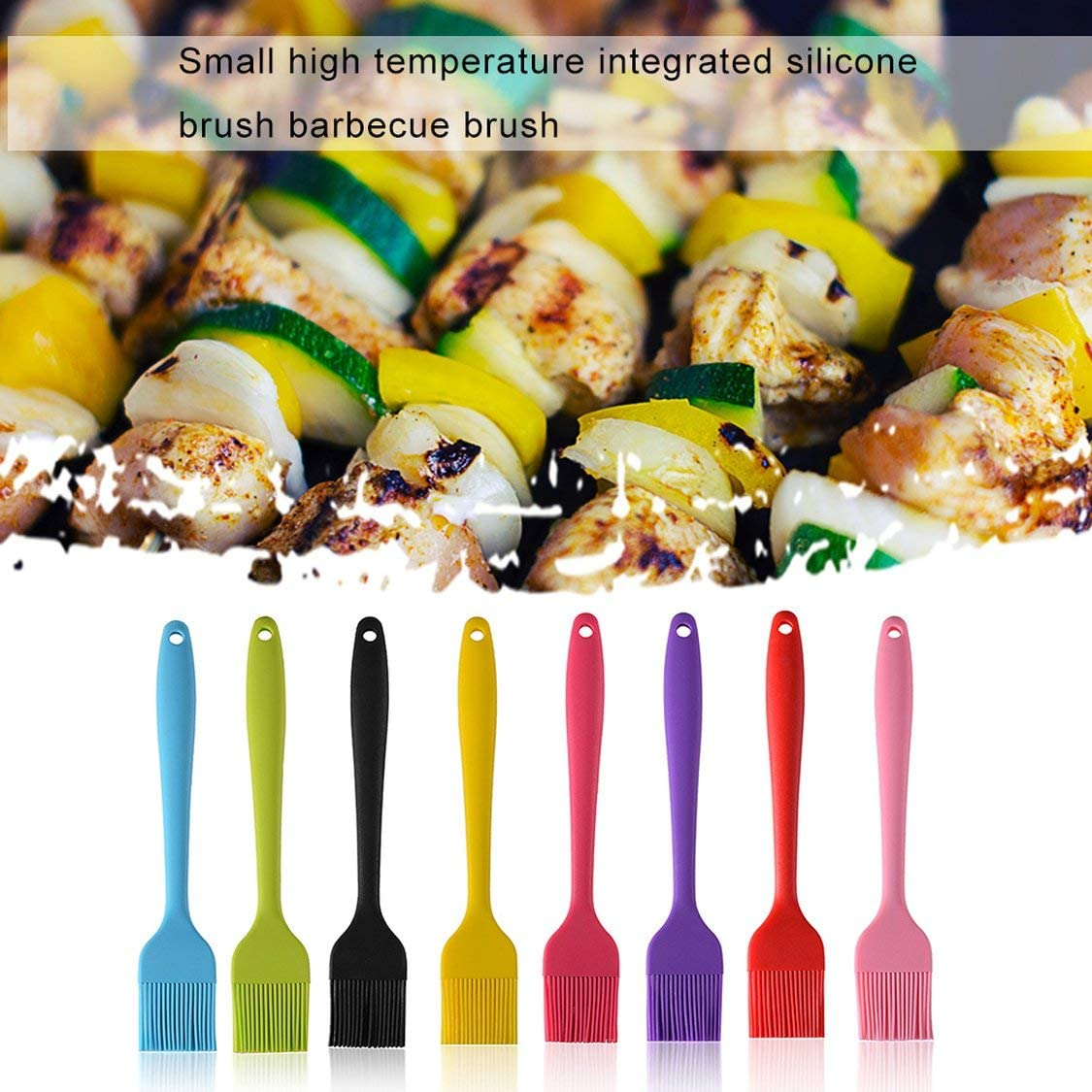 Dynamovolition Conception Pratique Silicone Silicone Gâteau Pain Huile Crème Barbecue Cuisson Basting Brosse Outil Barbecue Cuisson Grillade Rose Rouge