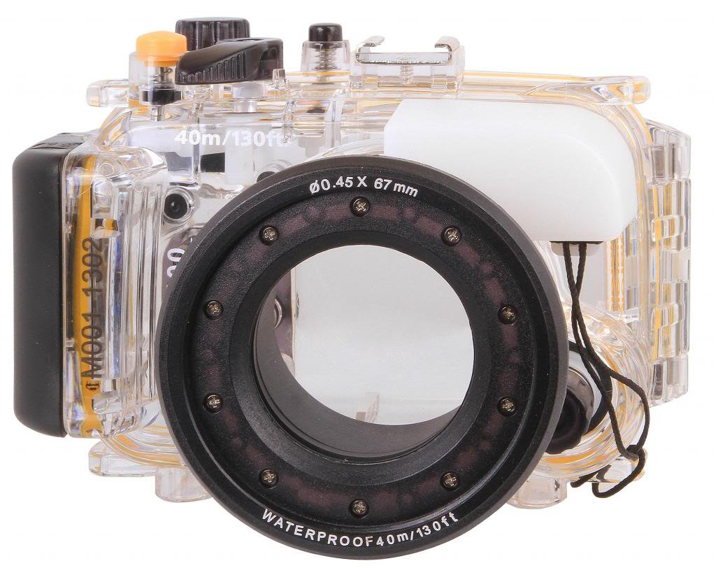 Polaroid Dive Rated Waterproof Underwater Housing Case For Sony Alpha NEX-5 Digital Camera WITH A 16mm Lens PLWPCNEX5SM