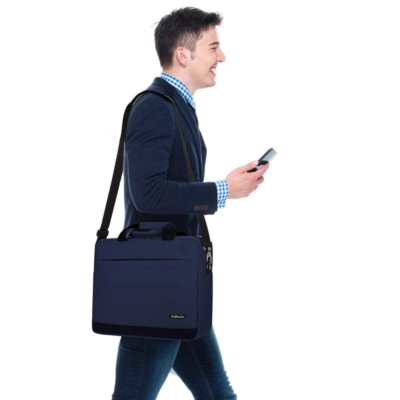Alfheim Negro Bolsas para Mensajero y Bandolera para computadora port/átil para Hombres y Mujeres,Bolso Tipo malet/ín Apto para computadora port/átil de 15,6 Pulgadas,para Estudiantes//Negocios//Viajes