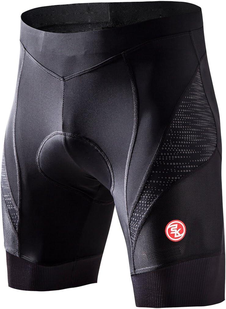 Souke Sports Herren 4D Gepolsterte Radlerhose Atmungsaktiv Schnelltrocknend Fahrradhose