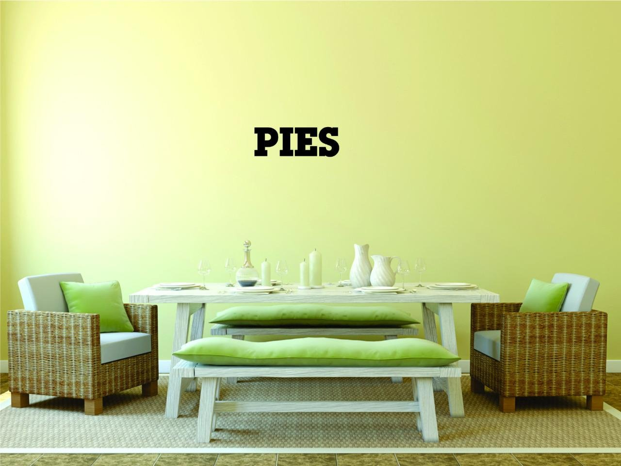 Peel /& Stick Wall Sticker Pies Quote Color Black Size 8 Inches x 20 Inches Design with Vinyl Moti 2486 1 Decal