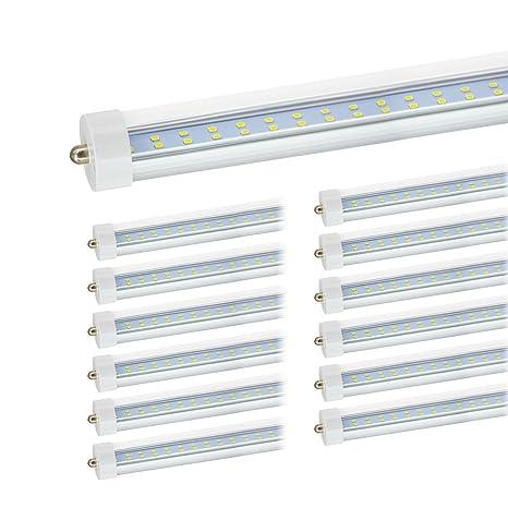 JESLED T8/T10/T12 8FT LED Tube Light, Single Pin FA8 Base, 50W 6000LM,  5000K Daylight, JESLED 96