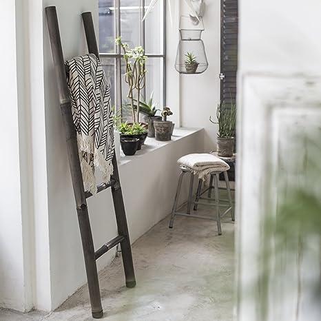 Tikamoon 2138 Escalera Puerta Toalla de baño (bambú Negro 40 x 5 x 150 cm