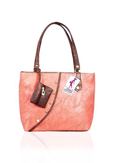 Ritupal Collection Women Shoulder Bag PU (Peach)  Amazon.in  Shoes    Handbags 4e21bec1ce8ee