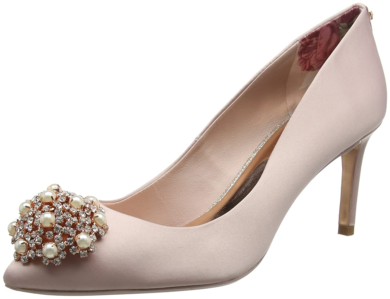 f7253f98c9e5 Amazon.com  Ted Baker Dahrlin - Light Pink Satin (Textile) Womens Heels 8.5  US  Shoes