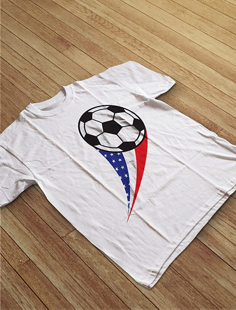 USA Team Soccer Ball American Flag Cute Toddler//Infant Kids T-Shirt TeeStars