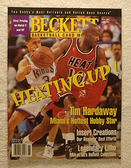 Tim Hardaway Miami Heat Beckett Basketball Monthly Magazine 83 June 1997 Back Cover Glen Rice Charlotte Hornets At Amazon S Sports Collectibles Store