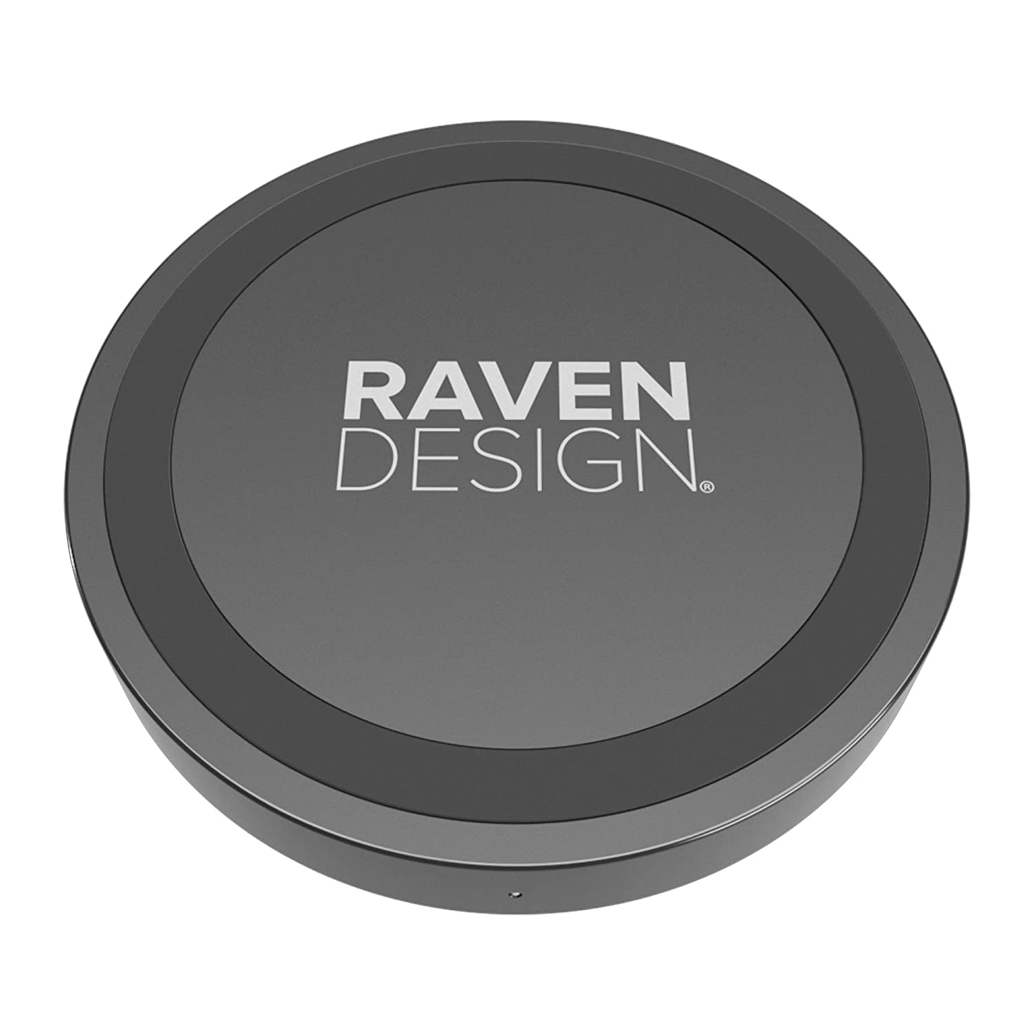 Raven design Chargeur /à Induction 5W pour Galaxy S9//S9 S8//S8+//Note 8//S7 Noir Mat