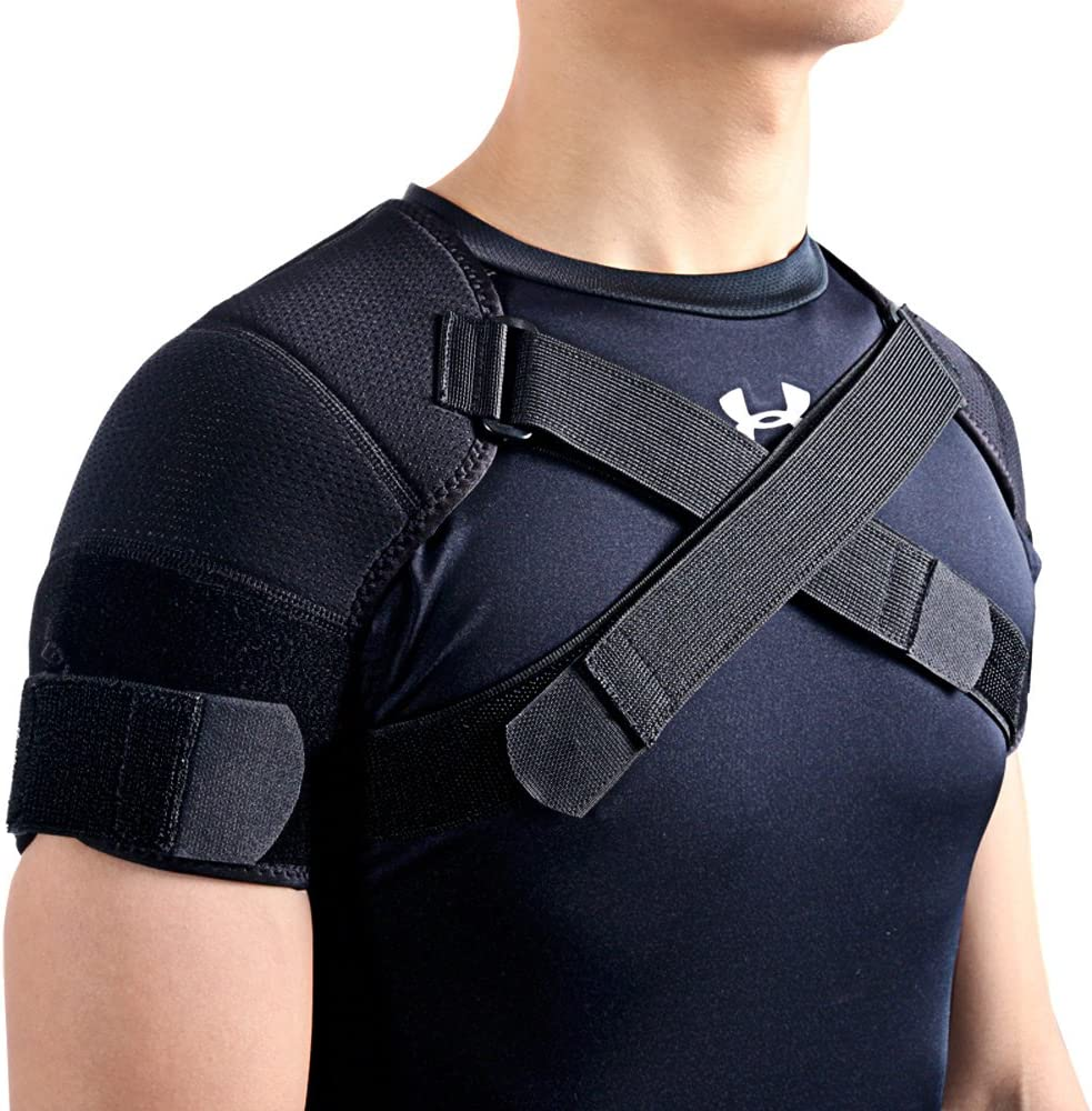 Kuangmi Double Shoulder Support Brace Strap Wrap Neoprene Protector (XX-Large): Health & Personal Care