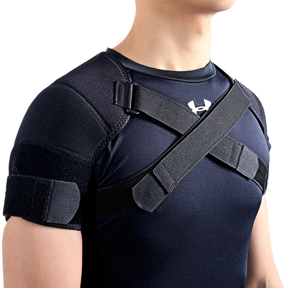 Kuangmi Double Shoulder Support Brace Strap Wrap Neoprene Protector (XX-Large) by Kuangmi