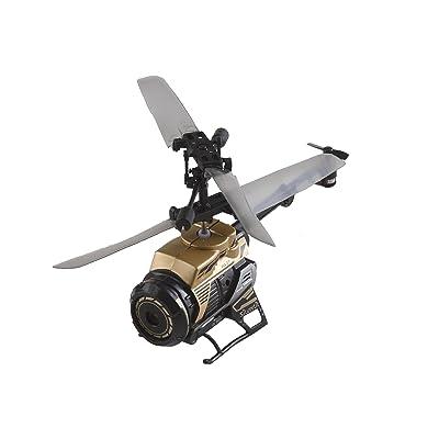 SilverLit 84729 - Hélicoptère d'extérieur - NANO SPY CAM - 3 Canaux Gyro - 2,4 Ghz