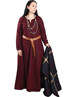 48acd5160b6 Wilma Medieval Viking Wool Dress by Calvina Costumes - Made in Turkey
