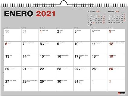 Miquelrius - Calendario de pared 18 meses 2020 2021 - A3 420 x 296 mm con espacio para apuntar: Amazon.es: Oficina y papelería