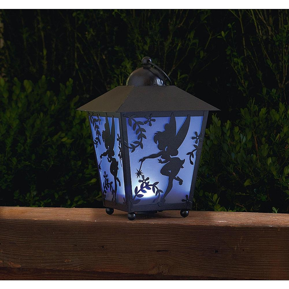 Disney 13in Tinkerbell Silhouette LED Lantern With Timer     Amazon.com