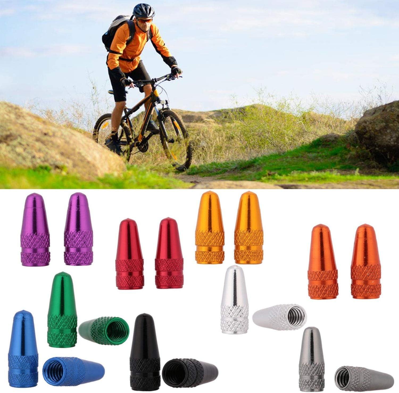 xsacuikj 10Pcs Aluminum Bicycle Presta Valve Caps Mountain Bike MTB Bike Tube Tyre Cycling Tire Valve Cap Dust Cover Bike Accessories