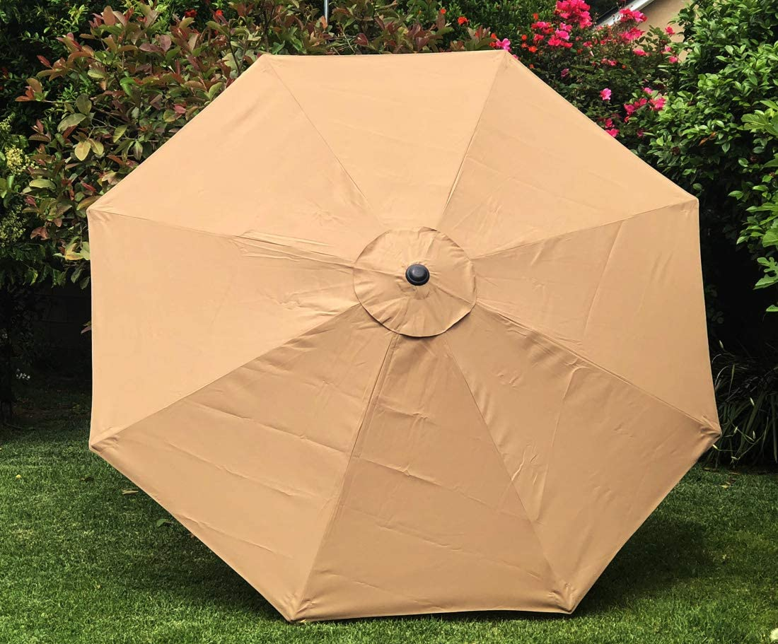 BELLRINO DECOR Replacement Sand Strong Thick Umbrella Canopy for 10ft 8 Ribs Sand Canopy Only