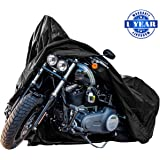 New Generation Motorcycle cover ! XYZCTEM All Weather Black XXXL Large-Best Quality Waterproof Outdoor Protects Fits up to 118 inch Harley Davidson, Honda, Suzuki,Yamaha and More -1 Year Warranty