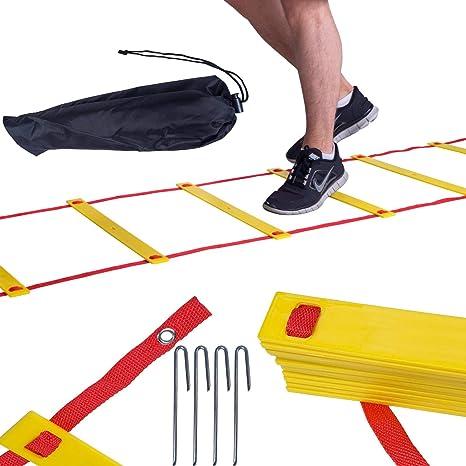 ScSPORTS 10000685 - Escalera de Agilidad, 6 m, Color Amarillo y Naranja: Amazon.es: Deportes y aire libre