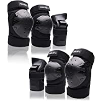 Protective Gear Set for Youth/Teens Knee Elbow Pads Wrist Guards for Inline Roller Skating Skateboarding Rollerblading…