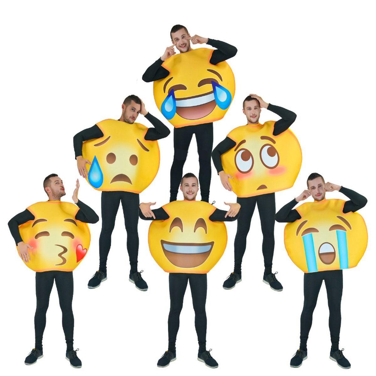 flatwhite Adult Fun Unisex Emoticon Costumes One Size