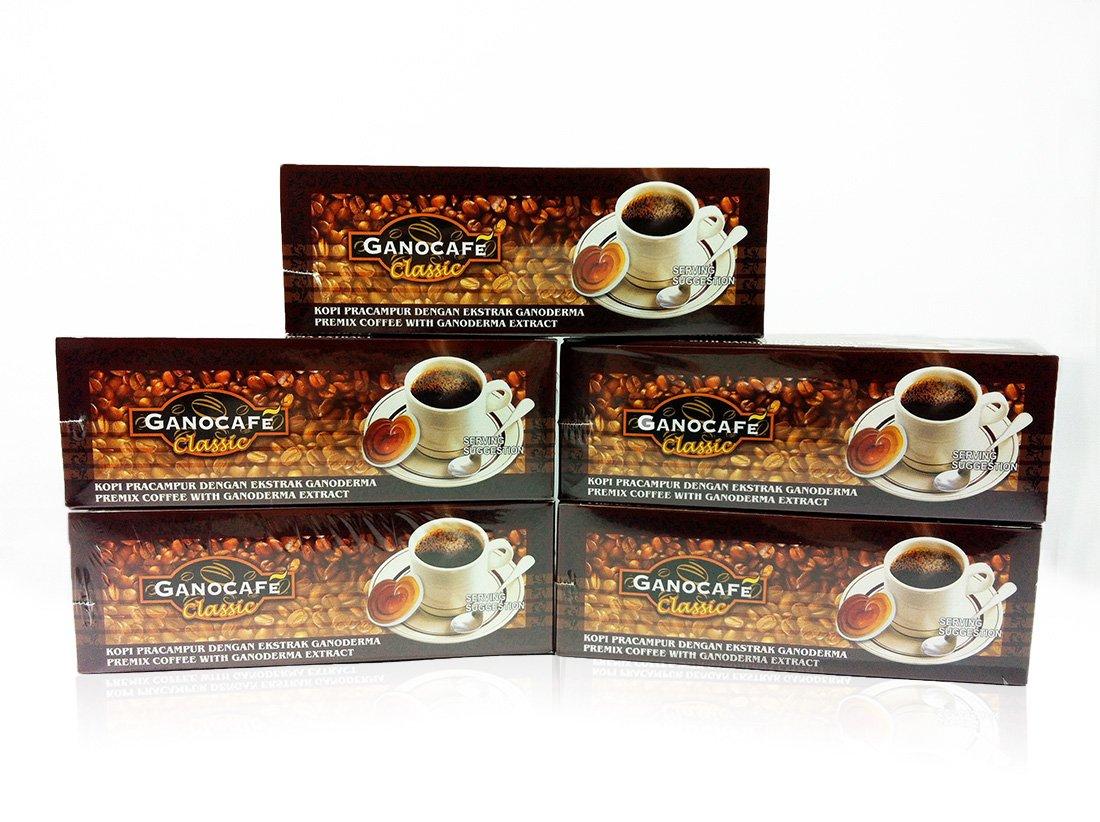 Gano Excel GanoCafe Classic Instant Black Healthy Coffee Ganoderma Lucidum Extract ( 1 Box = 30 sachets ) (5x30)