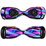 MightySkins Protective Vinyl Skin Decal for Swagtron T5 Hover Board Self Balancing Smart Scooter wrap cover sticker skins Light Waves